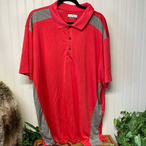 Men's Grand Slam Performance Polo 2XL Coral & Grey